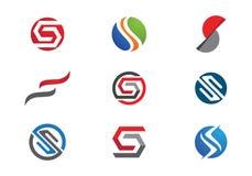 S-bokstavs- och s-logo Arkivbild