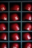 1970's Boston Red Sox Batting Helmets Stock Image