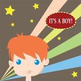 Its a boy. Birthday card Stock Image