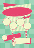 1950s Bowling Style Background and Frame royalty free illustration