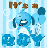 It's a boy!. Greeting card It's a boy card Royalty Free Stock Photography