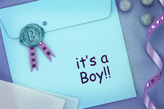 It's a boy! Royalty Free Stock Image