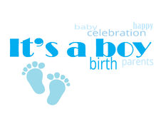 It`s a boy. Announcement il`s a boy Royalty Free Stock Photography