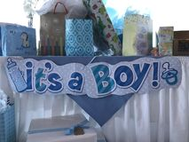 It's a boy. Baby shower it's a boy stock photos