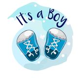 It`s a boy baby shower greeting card Royalty Free Stock Image