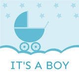 It's a boy baby shower invitation. Suprise someone, good to card, invitation vector illustration