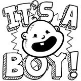 It's a boy baby sketch Stock Photos