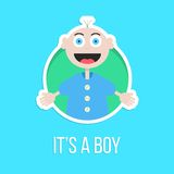 It's a boy with baby sticker Royalty Free Stock Photography