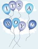 It's a boy balloons Royalty Free Stock Image