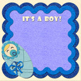 It's a boy! birthday felt greeting card Royalty Free Stock Images