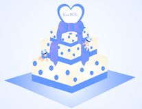 It's a Boy Cake Illustration Royalty Free Stock Photography