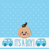 It's a boy card Royalty Free Stock Images