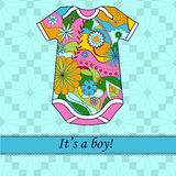 It's a boy card with colorful body Royalty Free Stock Photography