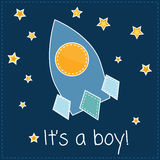 It's a boy card royalty free stock photos