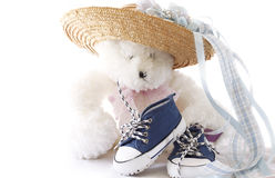 It's a Boy (focus on shoes) stock photography