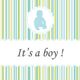 It's a boy ! Greeting card birth announcements. Royalty Free Stock Images