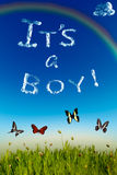 'It's a boy' greeting card Stock Photo