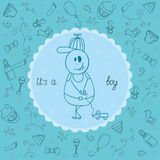 It's a boy greeting card Stock Images