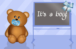 It's a boy! Stock Images