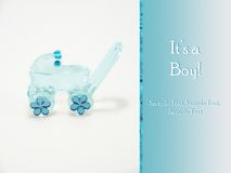 It's a boy - New baby announcement card Royalty Free Stock Photo