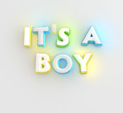 It's a Boy. New baby greeting card Royalty Free Stock Image