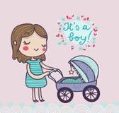 It's a boy postcard Royalty Free Stock Photo