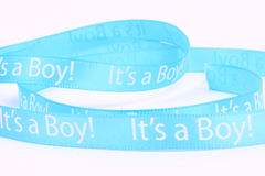 It's a boy Ribbon Stock Images
