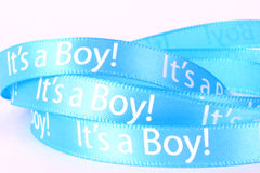 It's a boy ribbon Royalty Free Stock Images