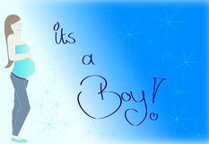 It's a boy - Sign / logo Stock Photography