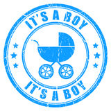 Its a boy vector stamp