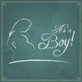 It's a Boy! Vintage background Stock Image
