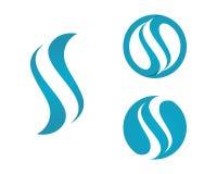 S Brief en s-embleem stock illustratie