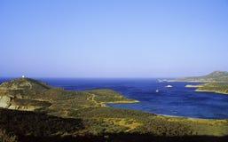 s brzegowi Sardynii na południe Zdjęcia Royalty Free