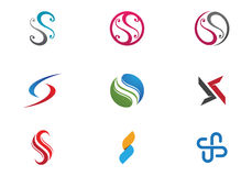 S-Buchstabe- und s-Logo Lizenzfreie Stockbilder