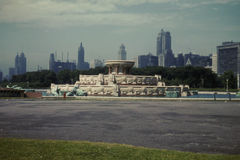 1950's Buckingham Fountain, Chicago, IL. Historic Buckingham Fountain, Chicago, IL. (Image from color slide royalty free stock image