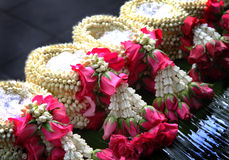 It's called. The flower in Thai Tradition Style. It's called Malai Stock Photo