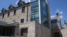 1880s Cambridge mill renovation uses a touch of modern and old world stone Royalty Free Stock Photography