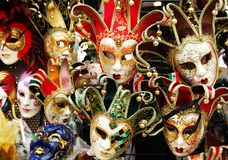 It`s carnival time in Venice stock photography