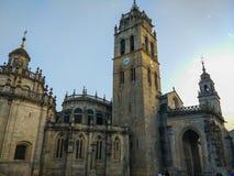 ` S Cathedral Catedral de Santa MarÃa De Lugo ou crochet de St Mary photographie stock libre de droits
