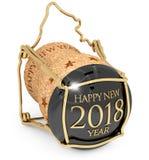 ` S Champagne Cap för nytt år 2018 Royaltyfri Foto