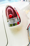 1950's Chevy BelAir taillight. Fully restored blue and white Chevrolet BelAir Stock Photos
