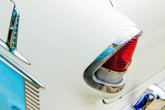1950's Chevy BelAir taillight. Fully restored blue and white Chevrolet BelAir Stock Photo