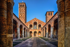 S Chiesa di Ambrogio, Milano Fotografia Stock Libera da Diritti