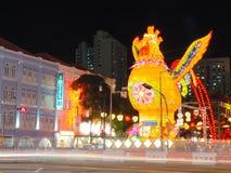 ` S Chinatown - año de Singapur del gallo Fotografía de archivo libre de regalías