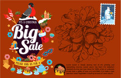 It's a Christmas big sale Royalty Free Stock Photos
