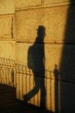s cienia podróżnik Zdjęcie Royalty Free