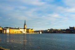 ` S Città Vecchia di Stoccolma, o Gamla Stan, in Svezia Fotografia Stock