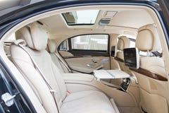 S-clase 2013 Rear Seat modelo de Mercedes-Benz Imágenes de archivo libres de regalías