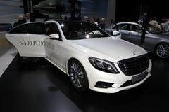 A S-classe nova de Mercedes Foto de Stock Royalty Free