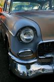Classic Car Headlight Grill and Front Bumper royalty free stock image